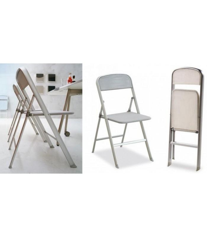 brianzastore, sedia pieghevole ALU tecnorete grigio