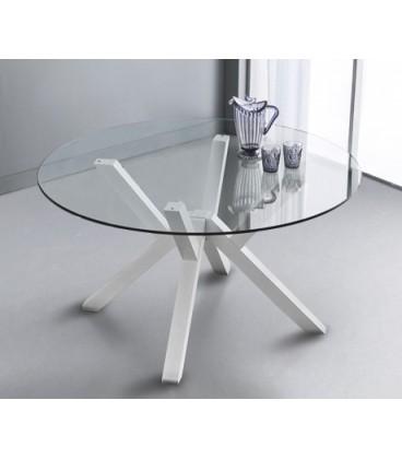 Tavolo Teorema rotondo in cristallo