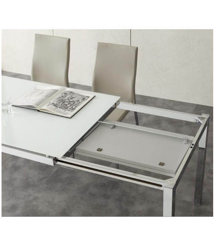 brianzastore tavolo allungabile majestic 635 con piano in cristallo.