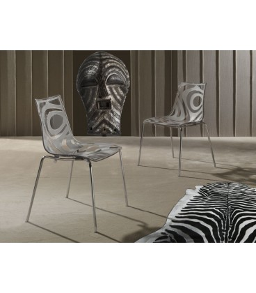 SEDIA IN MATERIALE PLASTICO 015 TRIBAL WAVE