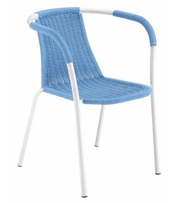 Filo Plastica Per Sedie.Sedia Filoline Metalmobil Con Intreccio Per Esterno